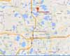 Map to Dayo Scuba Orlando Florida